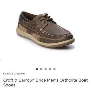 Kohl's Croft&Barrow mens boat shoes size 13